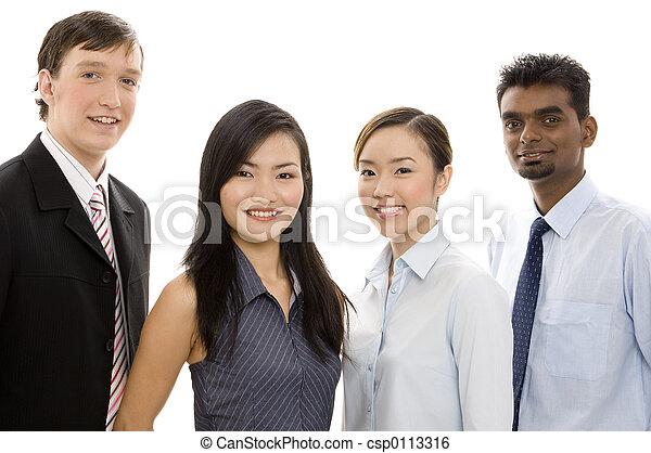 Divertido equipo de negocios 4 - csp0113316