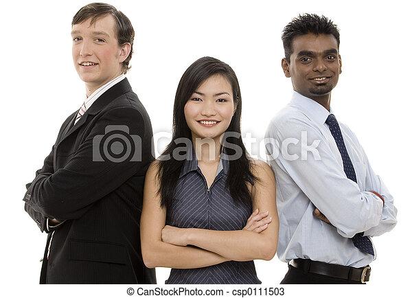 Divertido equipo de negocios 5 - csp0111503