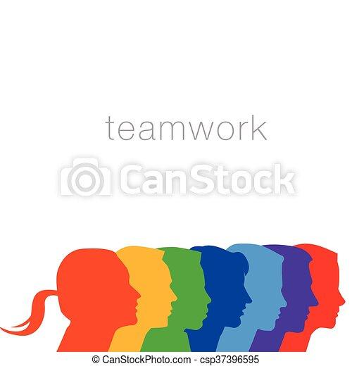 Un grupo diverso de personas - csp37396595