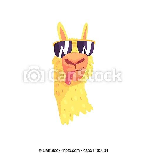 Divertente alpaca lama carino carattere occhiali da sole