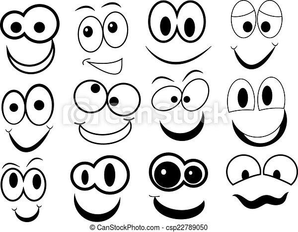 divertente, cartone animato, faccia - csp22789050