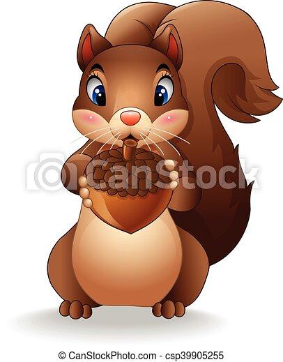 Divertente cartone animato scoiattolo. divertente scoiattolo