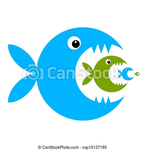 divertente, fish, disegno, tuo, cartone animato - csp15137185