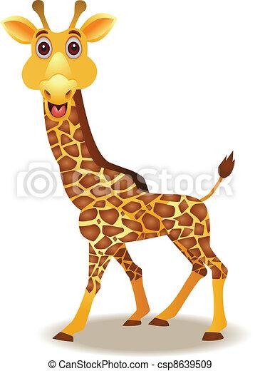divertente, giraffa, cartone animato - csp8639509