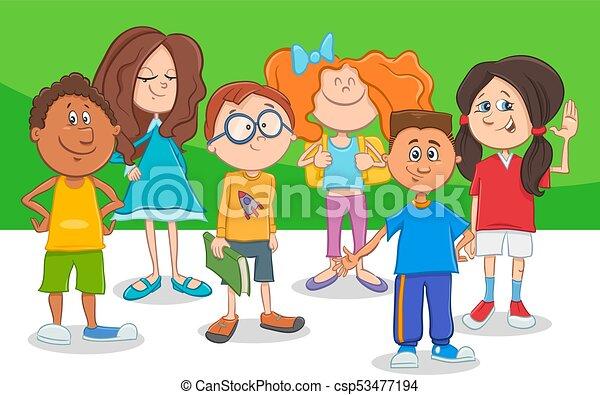 Bambini che giocano a cartone animato u foto stock