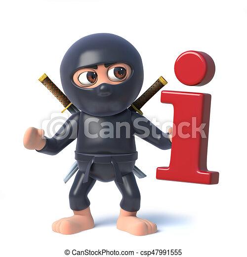 Divertente ha conoscenza simbolo ninja assassino cartone