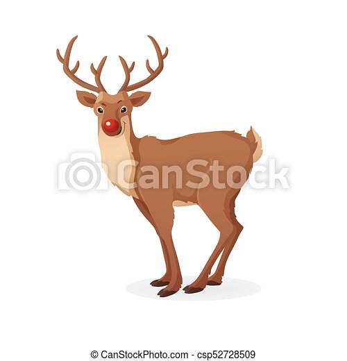 Divertente illustration rudolph isolato cartone animato