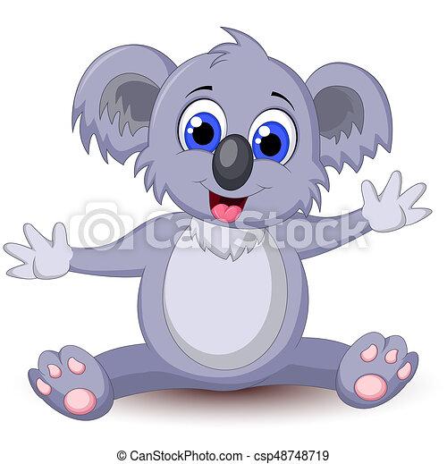 Divertente koala cartone animato divertente vettore koala