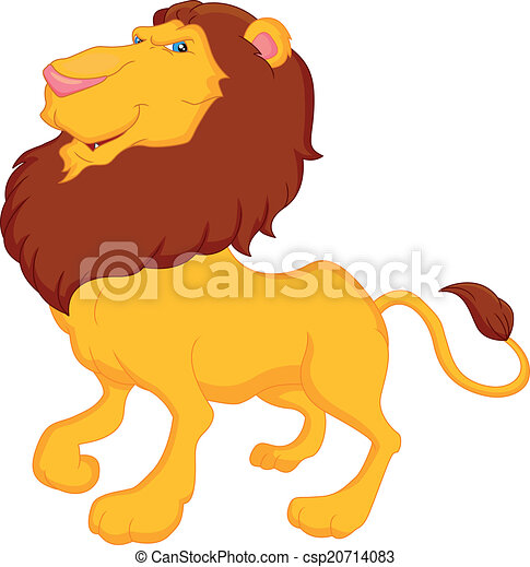 divertente, leone, cartone animato - csp20714083
