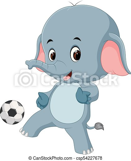 Divertente palla cartone animato elefante. divertente palla