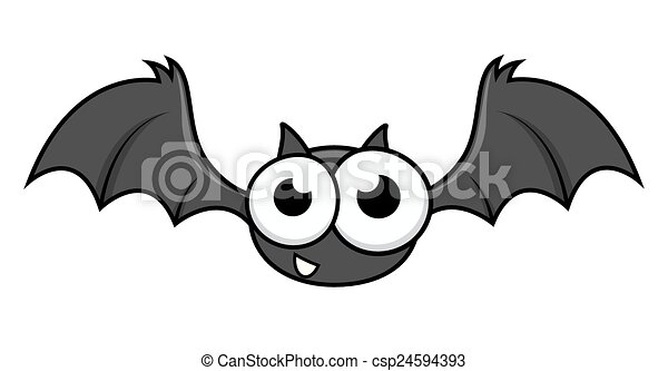 divertente, pipistrello, halloween, carattere - csp24594393