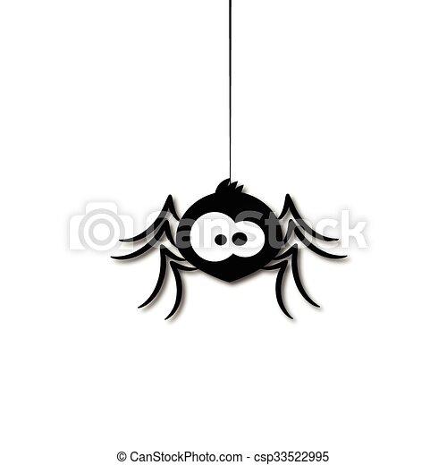 Divertente Ragno Cartone Animato Divertente Ragno Illustrazione