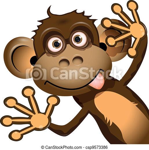divertente, scimmia - csp9573386