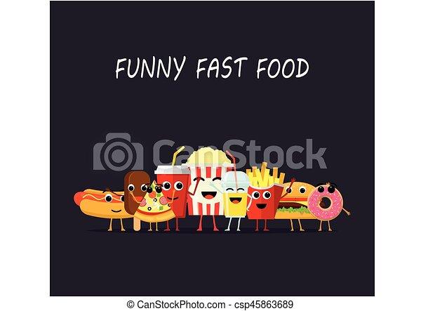 Divertente spuntino felice cibo isolato digiuno faccia scuro