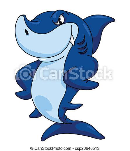 Divertente squalo cartone animato for Disegno squalo
