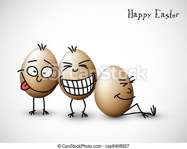 divertente, uova, pasqua - csp8408927