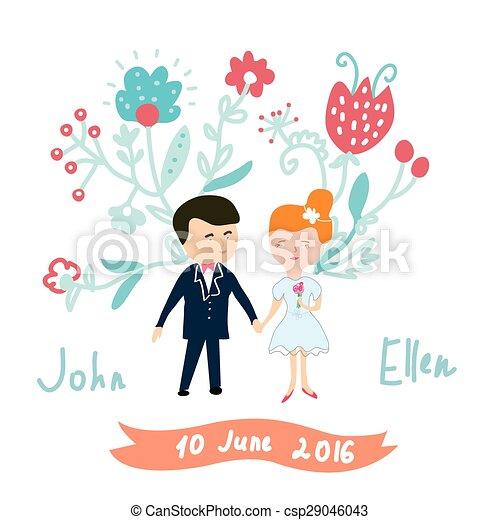 Una invitación de boda divertida - csp29046043