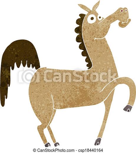 Gracioso caballo de dibujos animados - csp18440164
