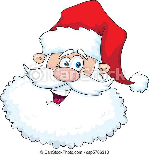 Gracioso Papá Noel Head - csp5786310