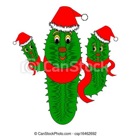 Cactus de Navidad gracioso - csp16462692