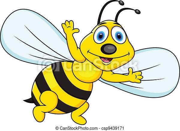 Gracioso dibujo de abeja - csp9439171