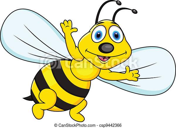 Gracioso dibujo de abeja - csp9442366