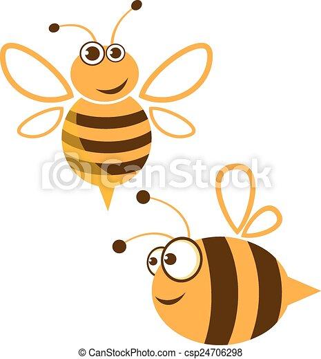 Una abeja cómica - csp24706298