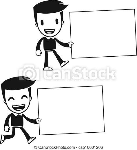 divertido caricatura ayudante hombre divertido uso