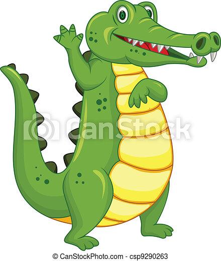 Gracioso dibujo de cocodrilo - csp9290263