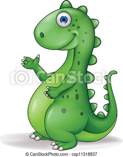 Divertido Caricatura De Dinosaurios Ilustracion Del Vector De Caricaturas Comicas Canstock Los dinosaurios son un grupo de saurópsidos que aparecieron durante el período triásico. divertido caricatura de dinosaurios