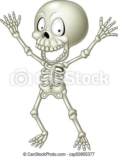 Divertido, caricatura, esqueleto humano. Divertido, esqueleto ...