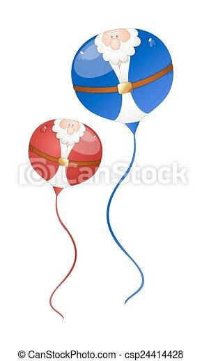 Globos graciosos de Santa Claus - csp24414428