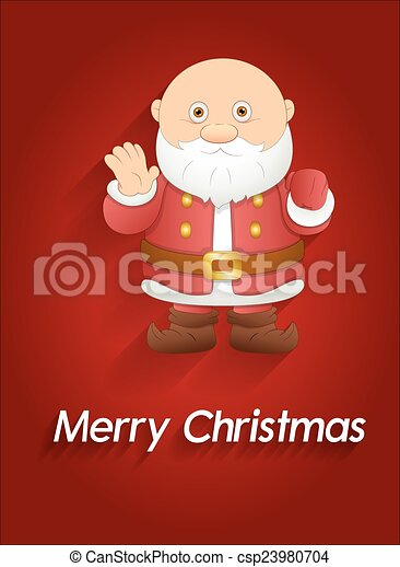 Gracioso Navidad Santa Claus - csp23980704
