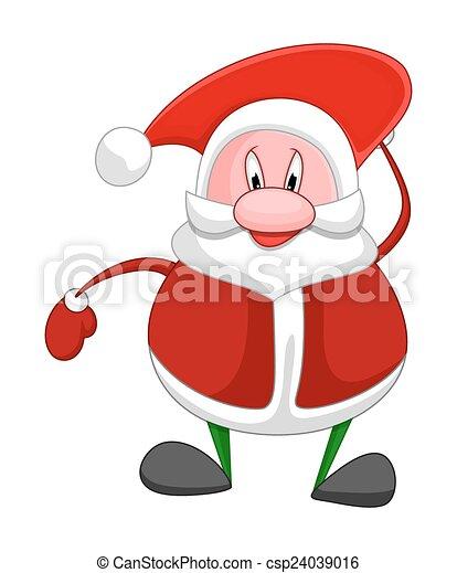 Gracioso Santa Claus - csp24039016