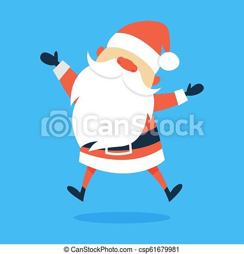 Feliz gracioso Santa Claus con ropa roja - csp61679981