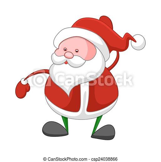El viejo y gracioso Santa Claus - csp24038866