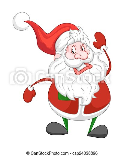 El gracioso viejo Santa Claus - csp24038896