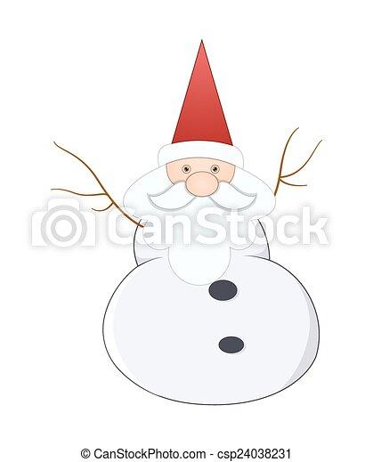 El gracioso viejo Santa Claus - csp24038231