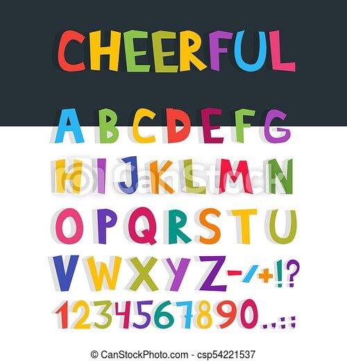 Vector cómics font. Cartas de alfabeto inglesas dibujadas a mano. Ilustración de vectores - csp54221537