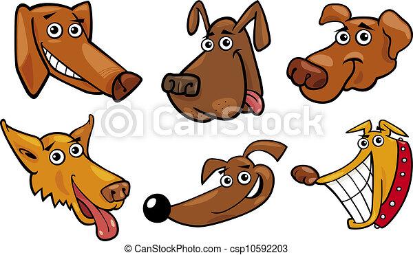 Caricatura de perros divertidos - csp10592203