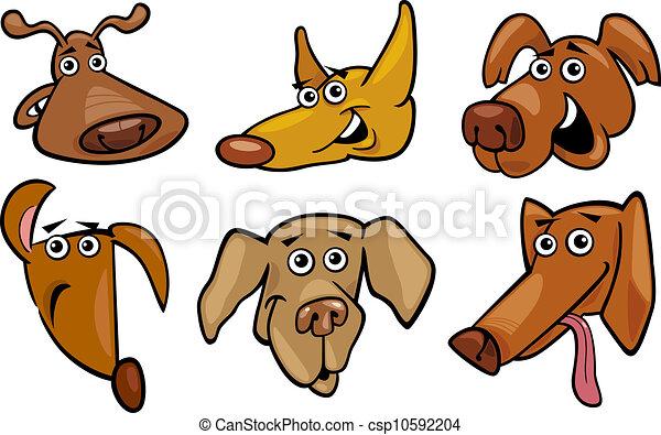 Caricatura de perros divertidos - csp10592204