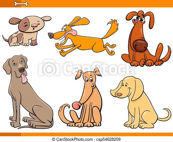 Dibujos animados de perros graciosos - csp54628209