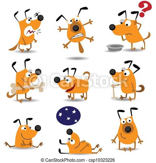 Perros graciosos listos - csp10323226