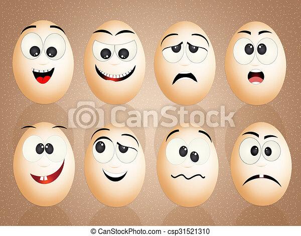 divertido huevos caras divertido huevos ilustraci n caras. Black Bedroom Furniture Sets. Home Design Ideas