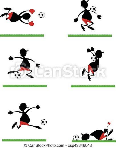 Gracioso jugador de fútbol - csp43846043
