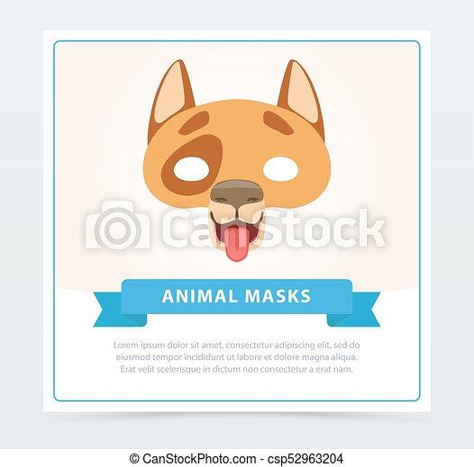 Máscara De Perro Creativo Un Gracioso Bozal De Animal