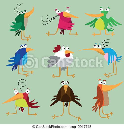Curiosa colección de pájaros - csp12917748