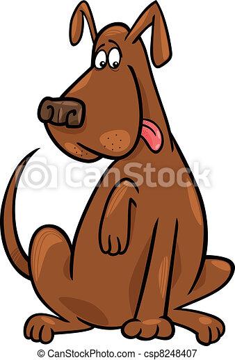 Curioso perro sentado - csp8248407