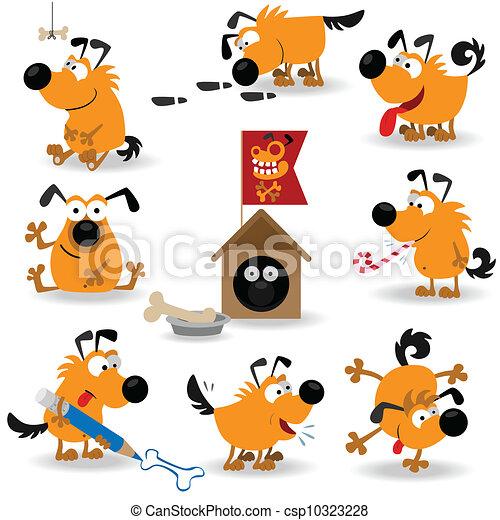 Perros graciosos listos número dos - csp10323228