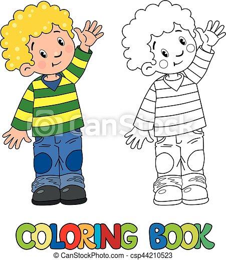 Divertido, poco, libro colorear, niño. Niño, colorido, divertido ...